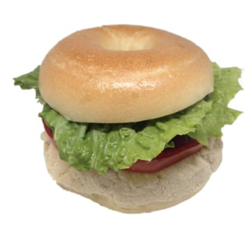 Bagel Sandwich Chicken with tomato, onion and lettuce