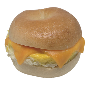Bagel w egg cheese F