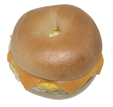 Bagel with egg and cheese